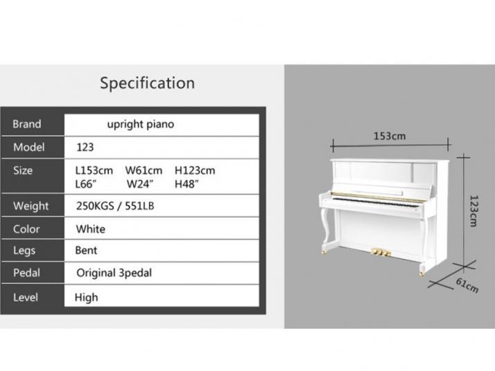 Vertical 122cm, color blanco, marca propia.