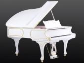 Piano cola Rococo blanco oro 186cm.